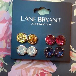 LANE BRYANT 4 pack of pierced earrings